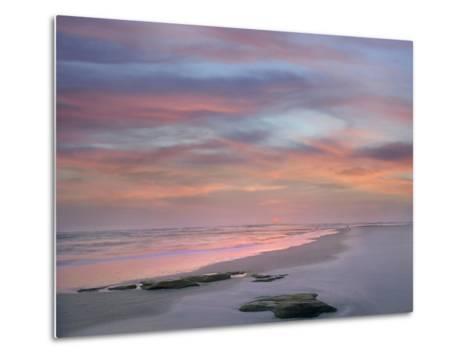 Sunset at Matanzas Beach, Florida, Usa-Tim Fitzharris-Metal Print