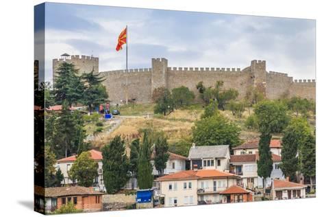 Macedonia, Ohrid, Czar Samuel's Fortress. Ohrid-Emily Wilson-Stretched Canvas Print