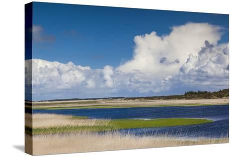 Denmark, Jutland, Nymendegab, View of the Ringkobing Fjord-Walter Bibikow-Stretched Canvas Print
