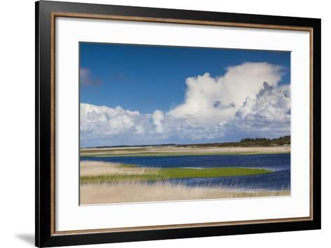 Denmark, Jutland, Nymendegab, View of the Ringkobing Fjord-Walter Bibikow-Framed Art Print