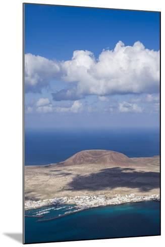 Spain, Canary Islands, Lanzarote, Ye, Elevated View over Isla Graciosa Island-Walter Bibikow-Mounted Photographic Print