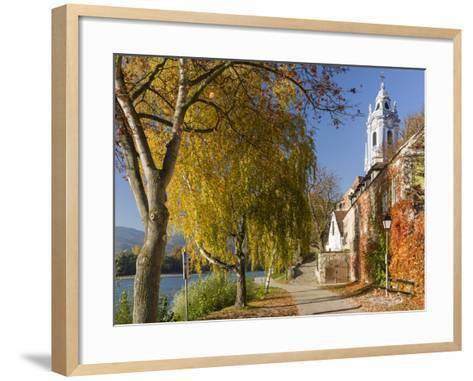 Collegiate Church in Durnstein, an Icon of the Wachau Area. Austria-Martin Zwick-Framed Art Print