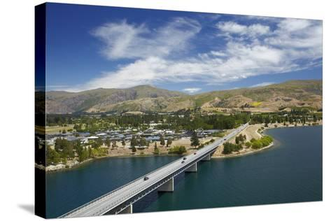 Deadman's Point Bridge and Lake Dunstan, Cromwell, Central Otago, South Island, New Zealand-David Wall-Stretched Canvas Print