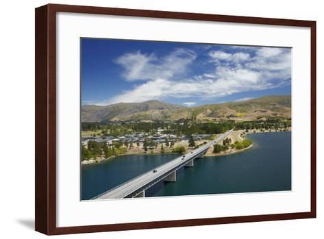 Deadman's Point Bridge and Lake Dunstan, Cromwell, Central Otago, South Island, New Zealand-David Wall-Framed Art Print