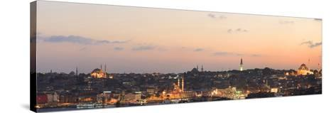 Panorama. Suleymaniye Mosque, the Blue Mosque and Hagia Sophia. the Golden Horn. Istanbul. Turkey-Tom Norring-Stretched Canvas Print