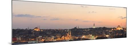 Panorama. Suleymaniye Mosque, the Blue Mosque and Hagia Sophia. the Golden Horn. Istanbul. Turkey-Tom Norring-Mounted Photographic Print