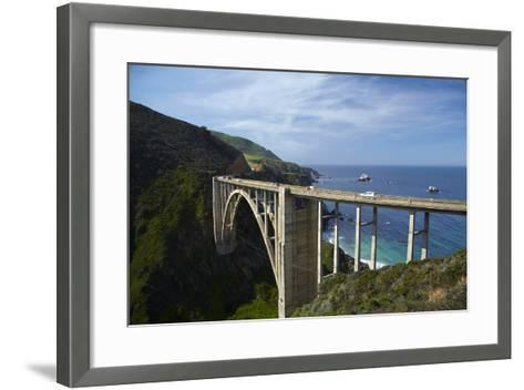 Bixby Creek Bridge, Pacific Coast Highway, Big Sur, Central Coast, California, Usa-David Wall-Framed Art Print