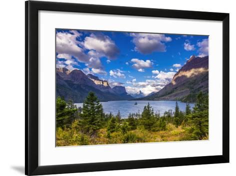 Saint Mary Lake and Wild Goose Island, Glacier National Park, Montana-Russ Bishop-Framed Art Print