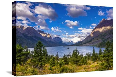 Saint Mary Lake and Wild Goose Island, Glacier National Park, Montana-Russ Bishop-Stretched Canvas Print