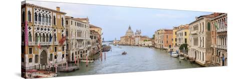 Panorama. Grand Canal. Basilica Di Santa Maria Della Salute in Background. Venice. Italy-Tom Norring-Stretched Canvas Print