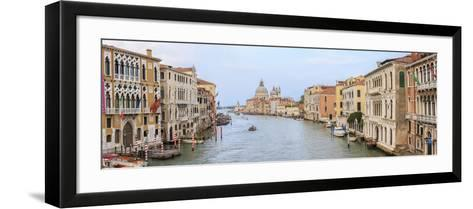 Panorama. Grand Canal. Basilica Di Santa Maria Della Salute in Background. Venice. Italy-Tom Norring-Framed Art Print