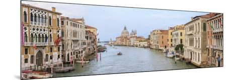 Panorama. Grand Canal. Basilica Di Santa Maria Della Salute in Background. Venice. Italy-Tom Norring-Mounted Photographic Print