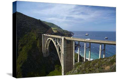 Bixby Creek Bridge, Pacific Coast Highway, Big Sur, Central Coast, California, Usa-David Wall-Stretched Canvas Print