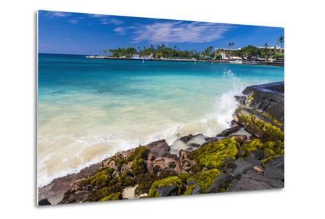 Niumalu Beach at Kailua Bay, Kailua-Kona, the Big Island, Hawaii, Usa-Russ Bishop-Metal Print