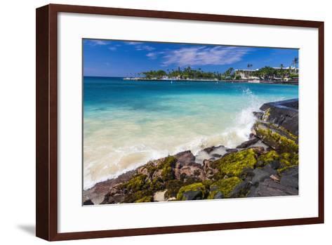Niumalu Beach at Kailua Bay, Kailua-Kona, the Big Island, Hawaii, Usa-Russ Bishop-Framed Art Print