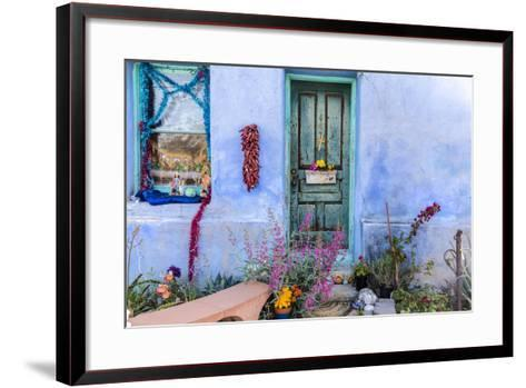 Colorful Doorway in the Barrio Viejo District of Tucson, Arizona, Usa-Chuck Haney-Framed Art Print