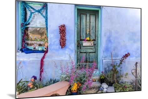 Colorful Doorway in the Barrio Viejo District of Tucson, Arizona, Usa-Chuck Haney-Mounted Photographic Print