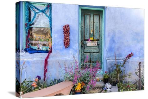 Colorful Doorway in the Barrio Viejo District of Tucson, Arizona, Usa-Chuck Haney-Stretched Canvas Print