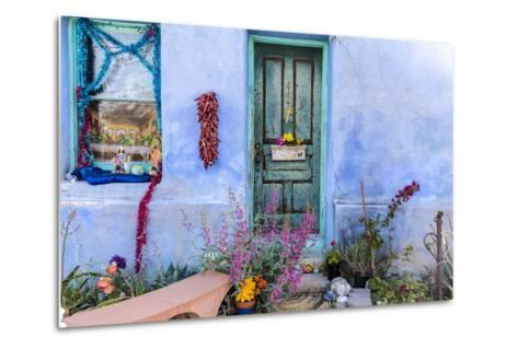 Colorful Doorway in the Barrio Viejo District of Tucson, Arizona, Usa-Chuck Haney-Metal Print
