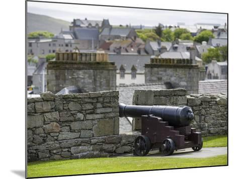 Lerwick. the Historic Center, Fort Charlotte with a View over Lerwick Towards the Island of Bressay-Martin Zwick-Mounted Photographic Print