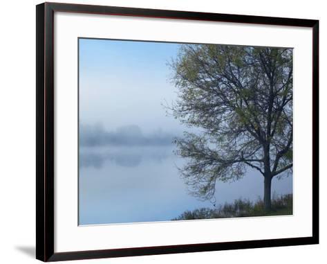 Dense Fog on Lackawanna Lake, Lackawanna State Park, Pennsylvania, Usa-Tim Fitzharris-Framed Art Print