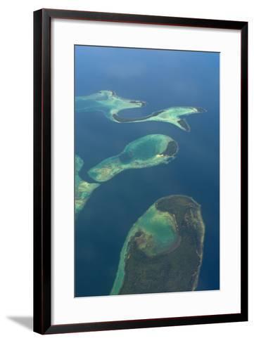 Aerials of the Russell Islands, Solomon Islands, Pacific-Michael Runkel-Framed Art Print