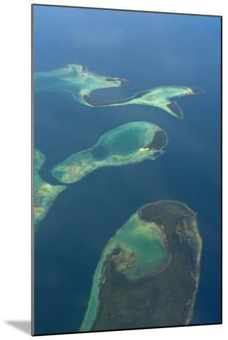 Aerials of the Russell Islands, Solomon Islands, Pacific-Michael Runkel-Mounted Photographic Print