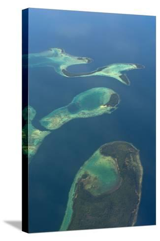 Aerials of the Russell Islands, Solomon Islands, Pacific-Michael Runkel-Stretched Canvas Print
