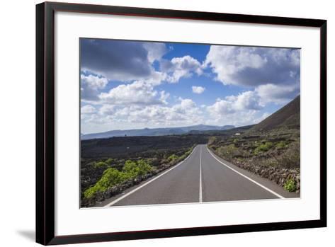 Spain, Canary Islands, Lanzarote, El Capitan, Lz-201 Road-Walter Bibikow-Framed Art Print