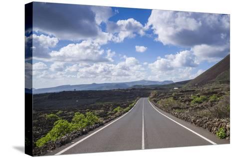 Spain, Canary Islands, Lanzarote, El Capitan, Lz-201 Road-Walter Bibikow-Stretched Canvas Print