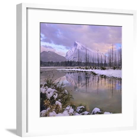 Mount Rundle and Tunnel Mountain, Banff National Park, Alberta, Canada-Tim Fitzharris-Framed Art Print