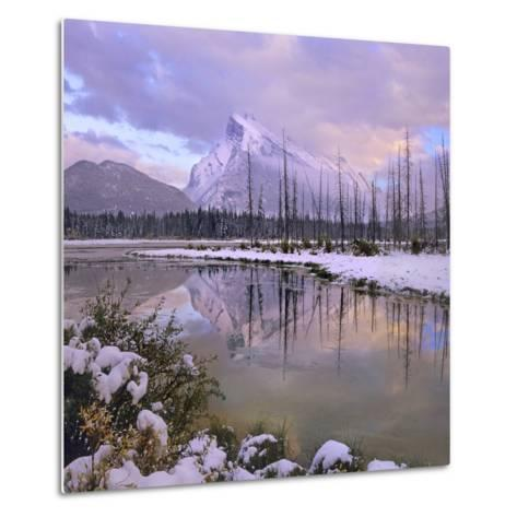 Mount Rundle and Tunnel Mountain, Banff National Park, Alberta, Canada-Tim Fitzharris-Metal Print