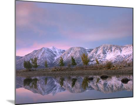 Carson Range Reflected in Carson River at Sunset, Nevada, Usa-Tim Fitzharris-Mounted Photographic Print