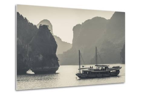 Vietnam, Halong Bay, Boat Traffic-Walter Bibikow-Metal Print