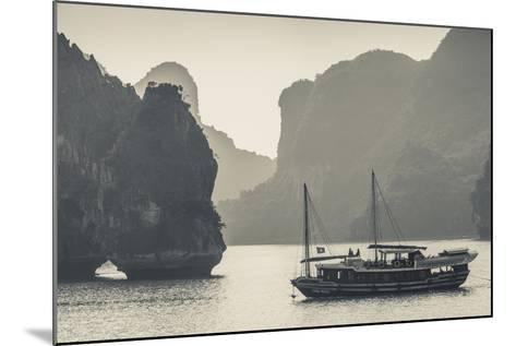 Vietnam, Halong Bay, Boat Traffic-Walter Bibikow-Mounted Photographic Print