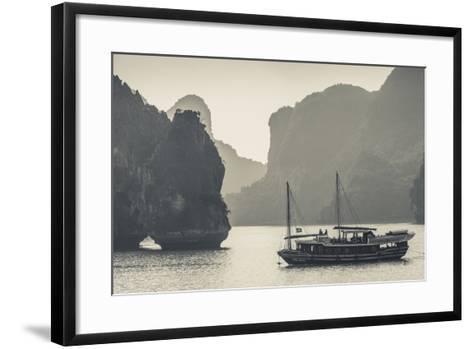 Vietnam, Halong Bay, Boat Traffic-Walter Bibikow-Framed Art Print
