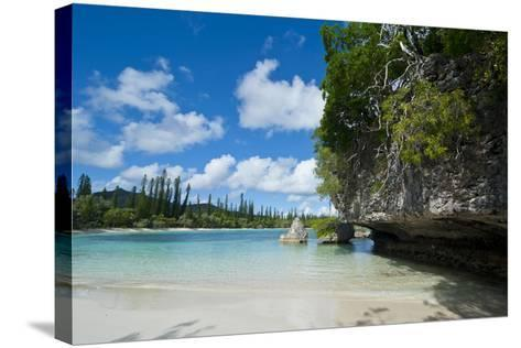 White Sand Beach, Bay De Kanumera, Ile Des Pins, New Caledonia, South Pacific-Michael Runkel-Stretched Canvas Print