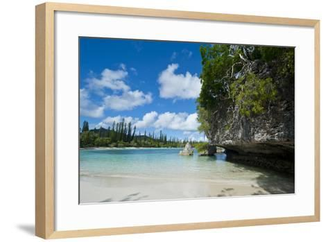 White Sand Beach, Bay De Kanumera, Ile Des Pins, New Caledonia, South Pacific-Michael Runkel-Framed Art Print