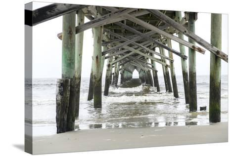 North Carolina, Wilmington, Oceanic Pier-Lisa S^ Engelbrecht-Stretched Canvas Print