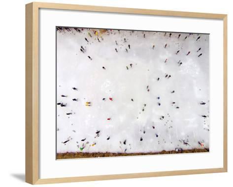 Curling Bonspiel, Naseby, Maniototo, Central Otago, South Island, New Zealand-David Wall-Framed Art Print