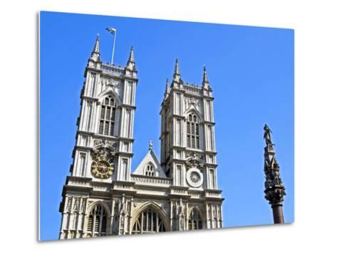 England, Central London, City of Westminster. Western Facade of Westminster Abbey-Pamela Amedzro-Metal Print