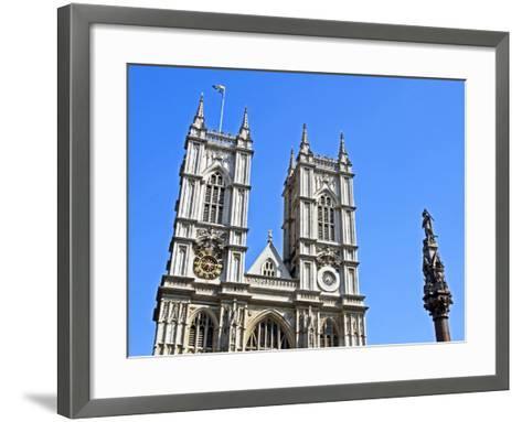 England, Central London, City of Westminster. Western Facade of Westminster Abbey-Pamela Amedzro-Framed Art Print