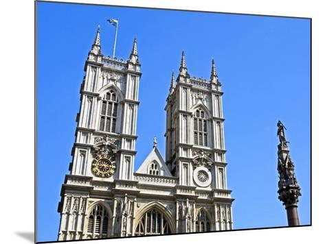 England, Central London, City of Westminster. Western Facade of Westminster Abbey-Pamela Amedzro-Mounted Photographic Print
