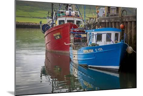 Fishing Boats Along the Pier in Dingle Harbor, Dingle, County Kerry, Republic of Ireland-Brian Jannsen-Mounted Photographic Print