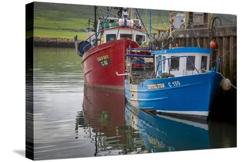 Fishing Boats Along the Pier in Dingle Harbor, Dingle, County Kerry, Republic of Ireland-Brian Jannsen-Stretched Canvas Print