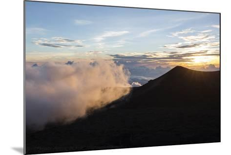 Sunset Viewed from the Top of Mauna Kea Volcano , Foreground-James White-Mounted Photographic Print