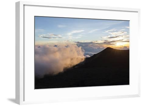 Sunset Viewed from the Top of Mauna Kea Volcano , Foreground-James White-Framed Art Print