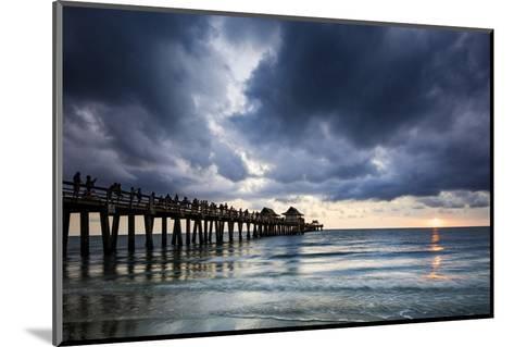 Evening at Naples Pier, Naples, Florida, Usa-Brian Jannsen-Mounted Photographic Print