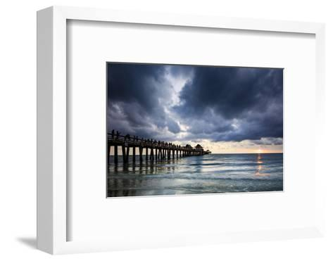 Evening at Naples Pier, Naples, Florida, Usa-Brian Jannsen-Framed Art Print