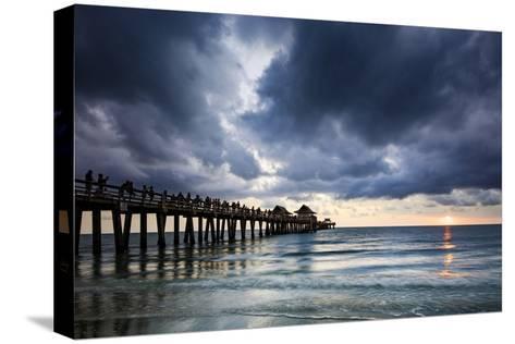 Evening at Naples Pier, Naples, Florida, Usa-Brian Jannsen-Stretched Canvas Print